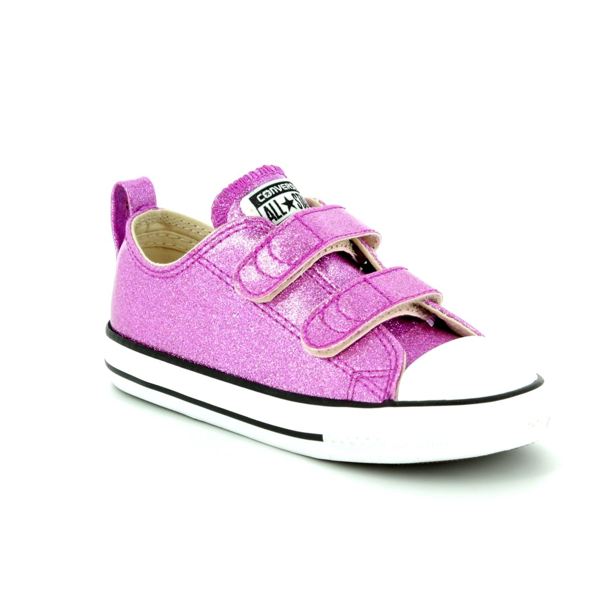 8fc44c269b54 Converse All Star Ox Velcro Infants 760073C Pink Girls trainers