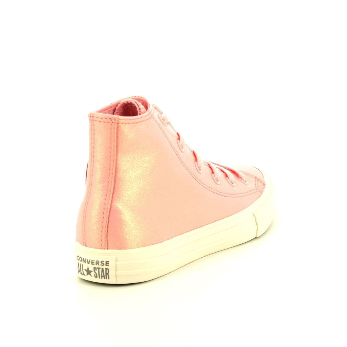 Converse Allstar Hi Top 661827C Pink Leather trainers 744913bcc2cd4