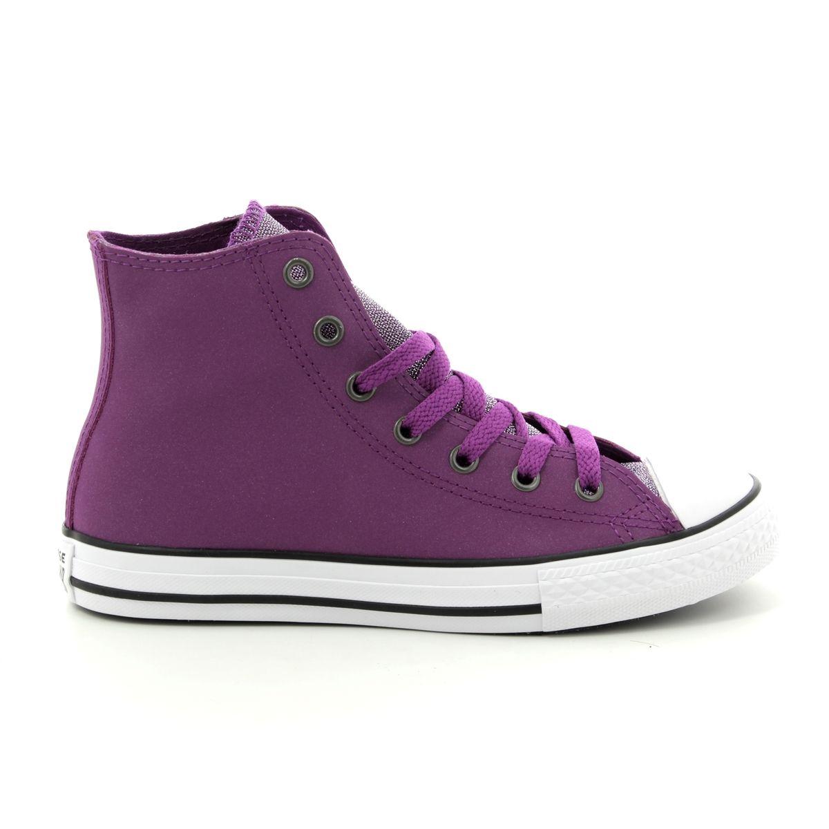 Converse Trainers - Purple Glitz - 662298C ALLSTAR HI JNR 33ec35fff18de