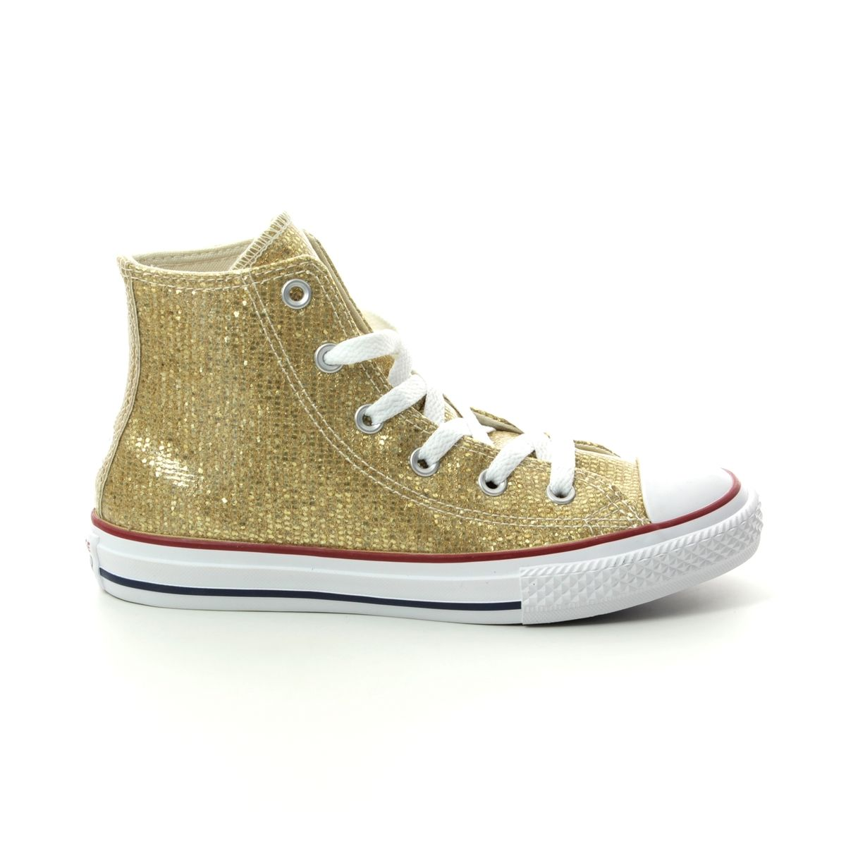 Converse Trainers - Gold - 663625C ALL STAR HI TOP JUNIOR b6a15a89a3339
