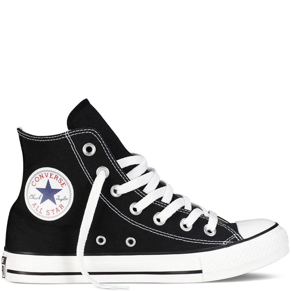 bfb6e0470533 Converse Allstar Hi Top M9160C Black Leather trainers