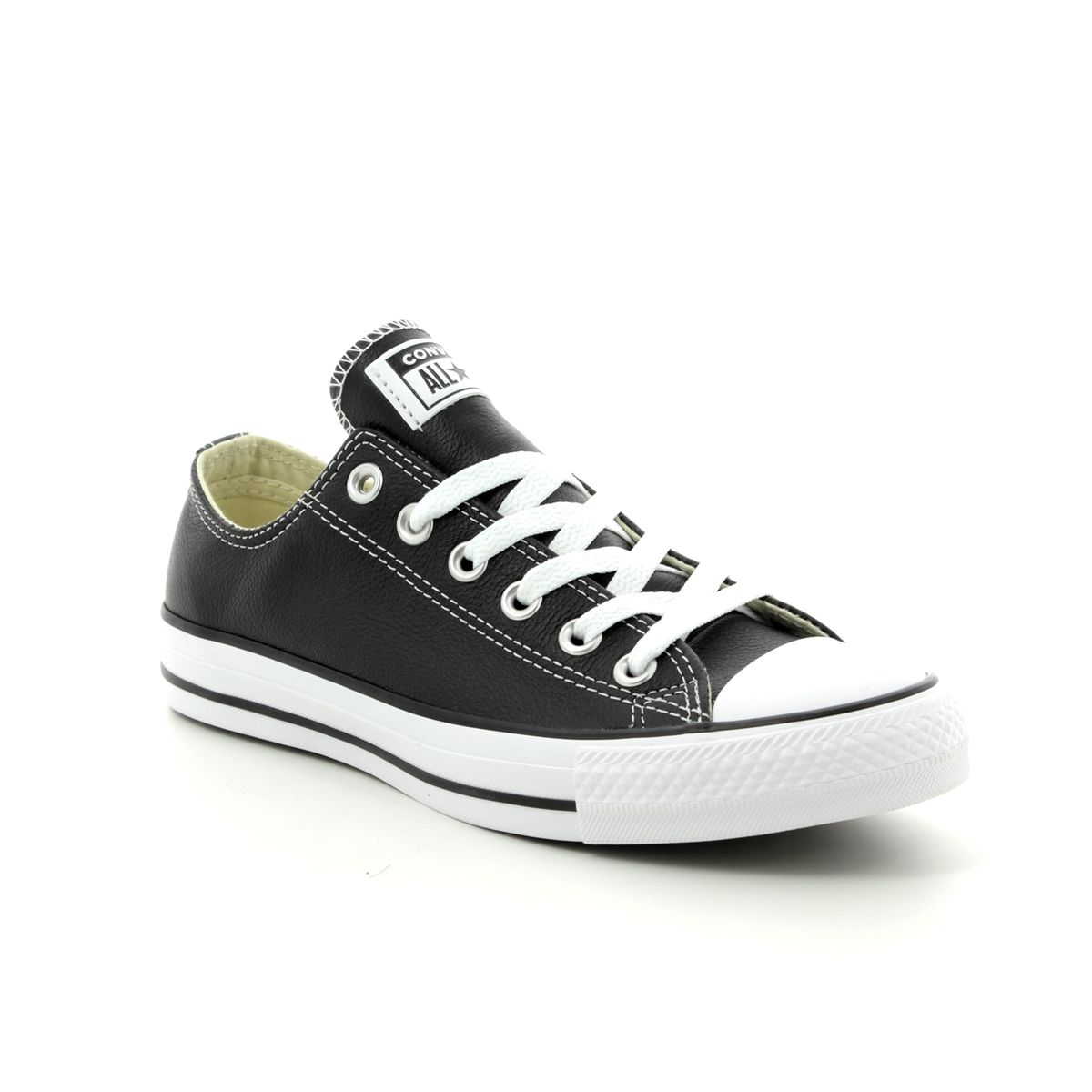 13c0643b826c36 Converse Trainers - Black leather - 132174C ALLSTAR OX Leather