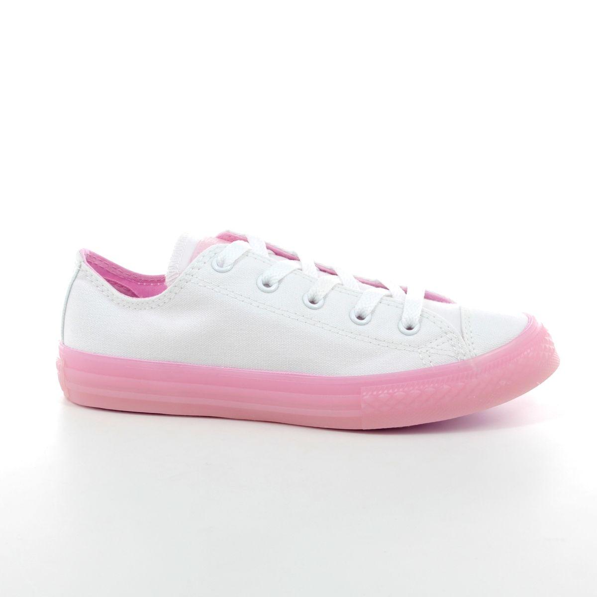 cefb834ac09f Converse Trainers - White-Pink combi - 660719C 100 ALLSTAR OX JNR