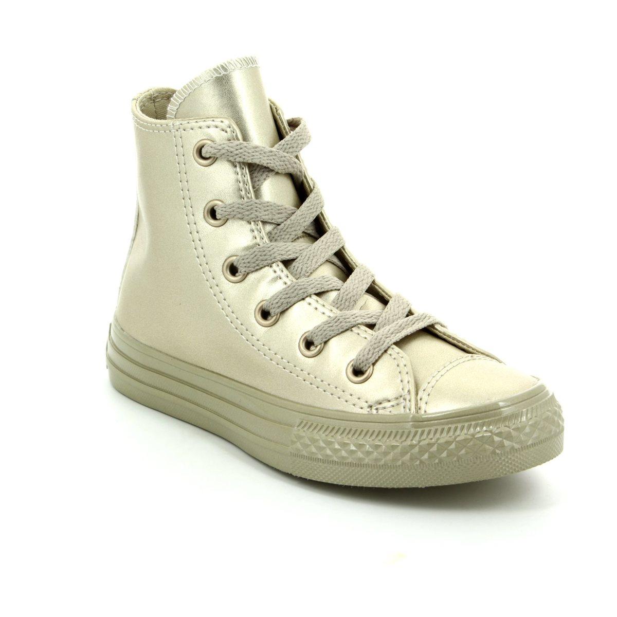 Converse Trainers - Gold - 357631C Chuck Taylor Junior ALL STAR HI TOP 04ec07eda