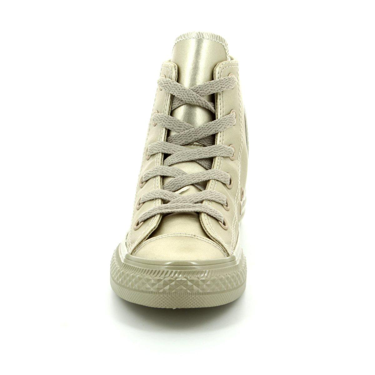 Converse Trainers - Gold - 357631C Chuck Taylor Junior ALL STAR HI TOP a369f8f8c9bf7