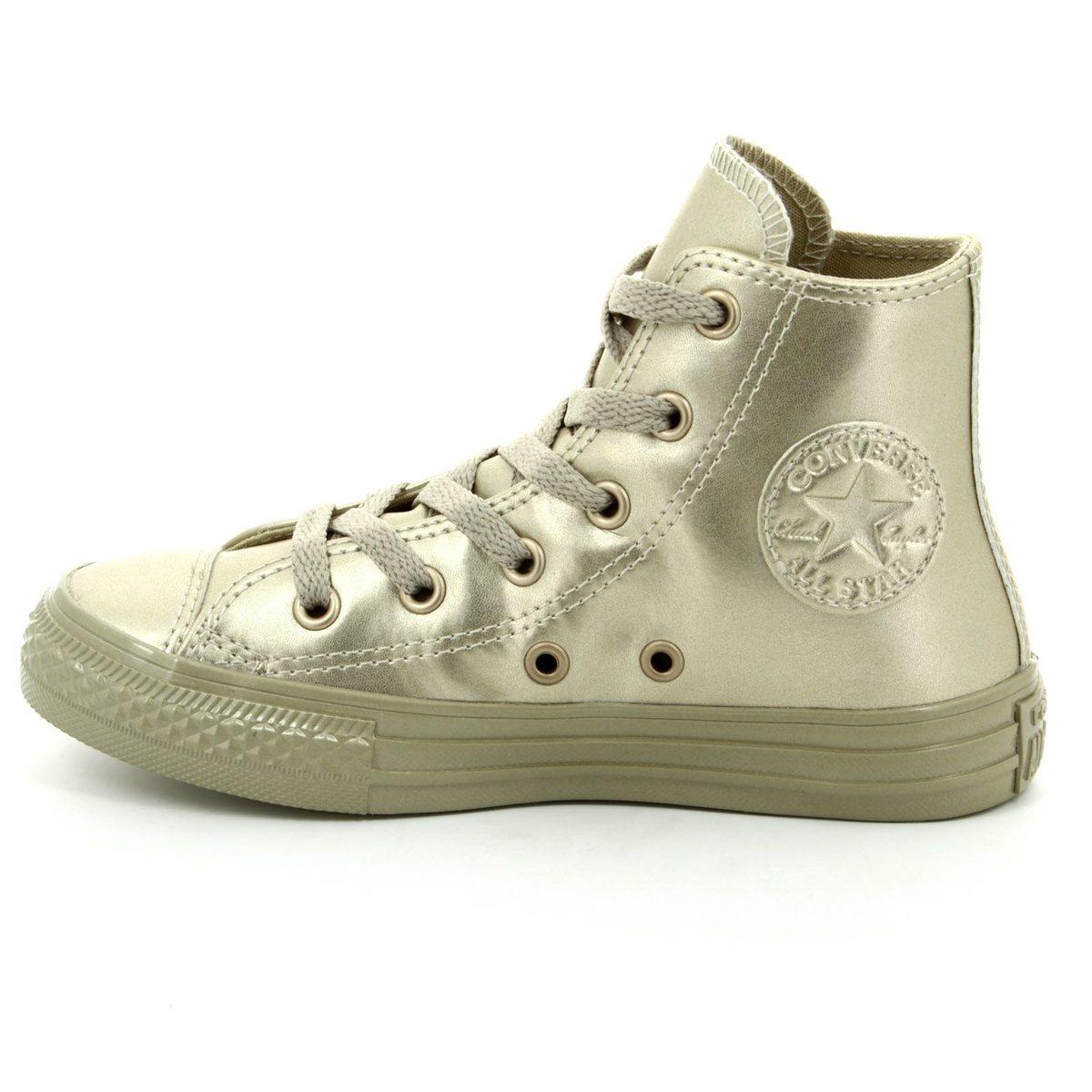 3c67838d406b Converse Trainers - Gold - 357631C Chuck Taylor Junior ALL STAR HI TOP
