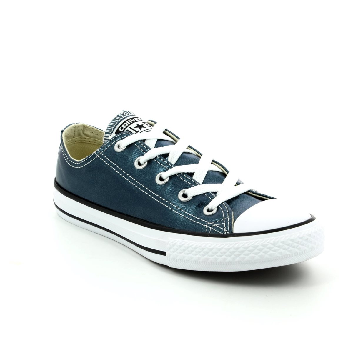 47a25f5032846b Converse Trainers - Blue - 357662C Chuck Taylor ALL STAR OX JNR