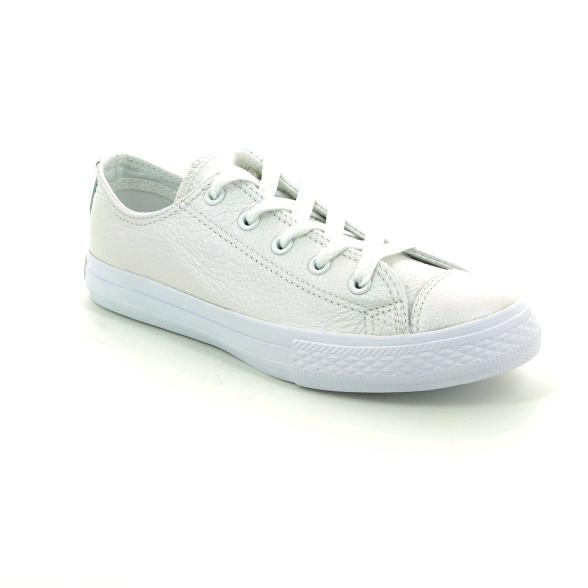 7dc10a34c88f Converse Trainers - White - 358009C Chuck Taylor All Star Ox Junior Leather