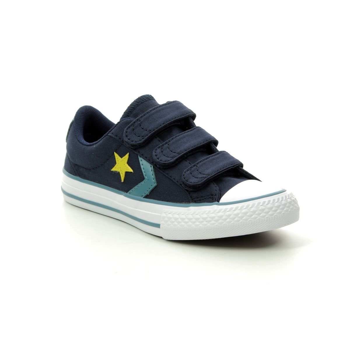 23439544743567 Converse Trainers - Navy - 663600C STAR PLAYER 3V VELCRO
