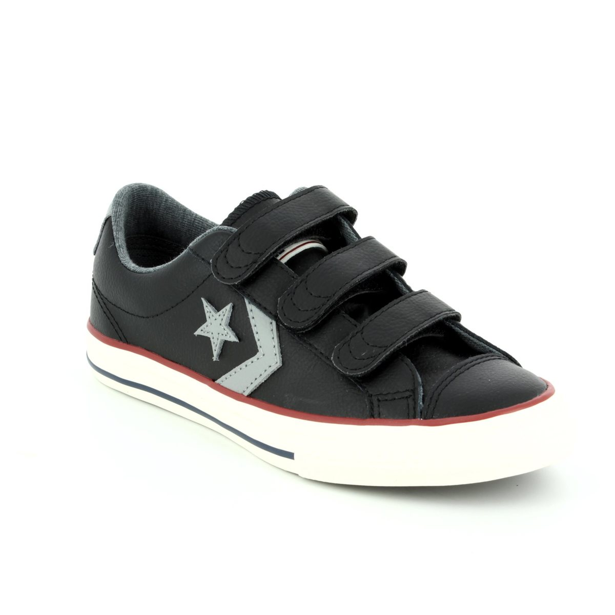 6bb7f62fbcf8 Converse Trainers - Black - 658155C 001 STAR PLAYER EV 3V OX Velcro