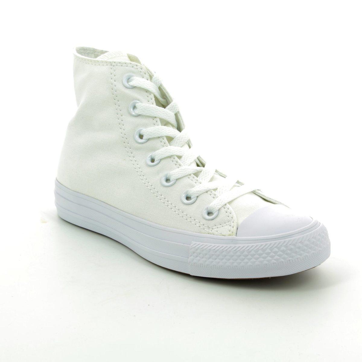 Converse Trainers - White - 1U646C Chuck Taylor All Star Hi Top Monochrome 2a1b80dd4