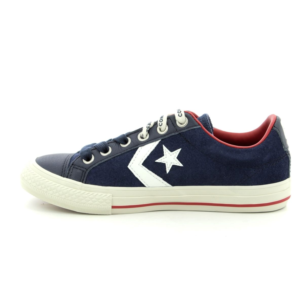 adc56bd8d8e Converse Star Player Junior 662766C-70 Navy Suede Boys Trainers