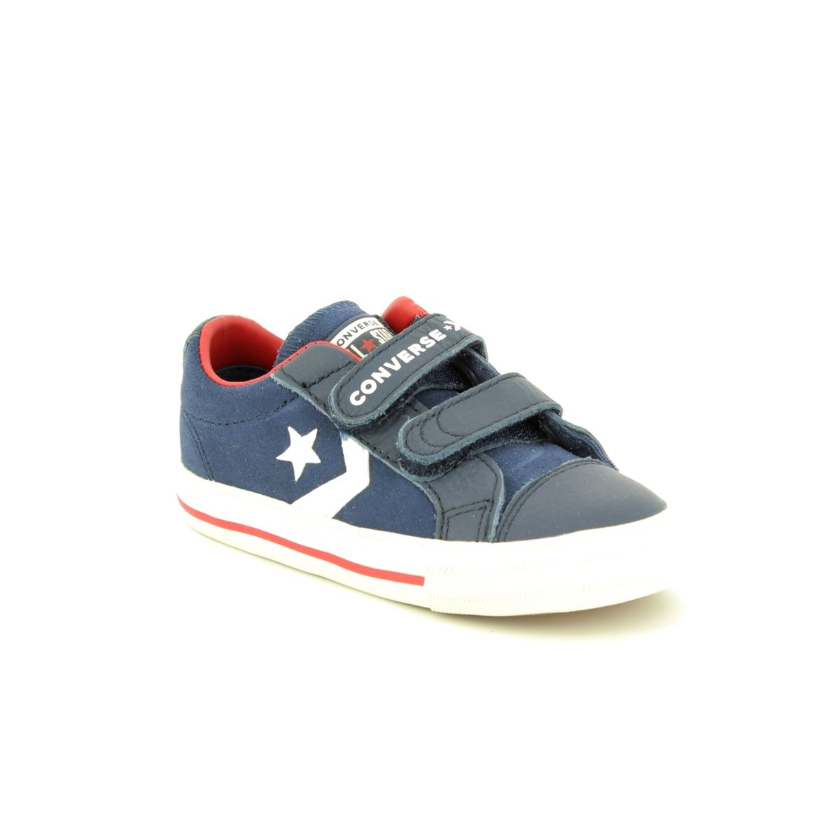 4f80333b98c Converse Star Player Velcro 762767C Navy suede boys trainers