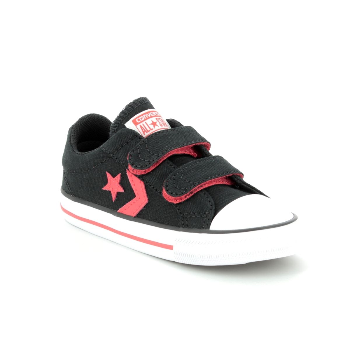 2a0c18765255f4 Converse Trainers - Black-red combi - 760036C STAR PLAYER VELCRO INFANTS