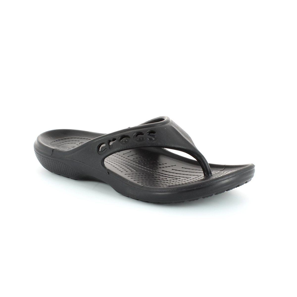 7faa8b7ba792a Crocs Mens  amp  Womens - Black - 11999 001 BAYA FLIP