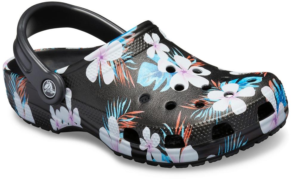 cad6f7c12 Crocs Comfortable Sandals - Black floral - 205706 0CV CLASSIC