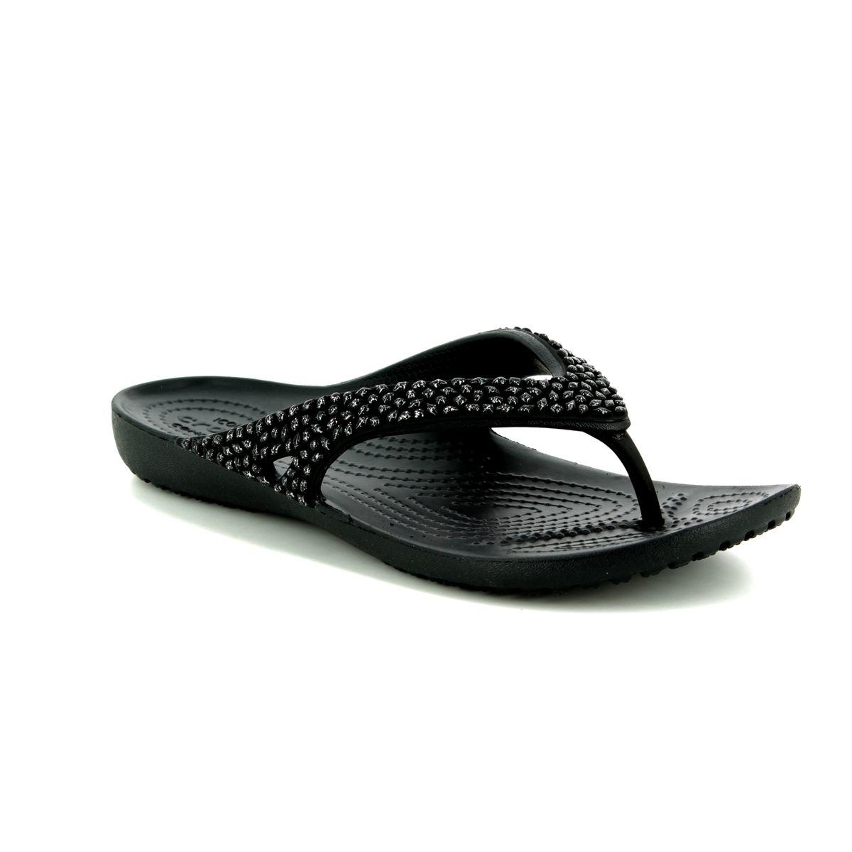300b4dbe5 Crocs Toe Post Sandals - Black - 205741 001 KADEE 2 DIAMOND