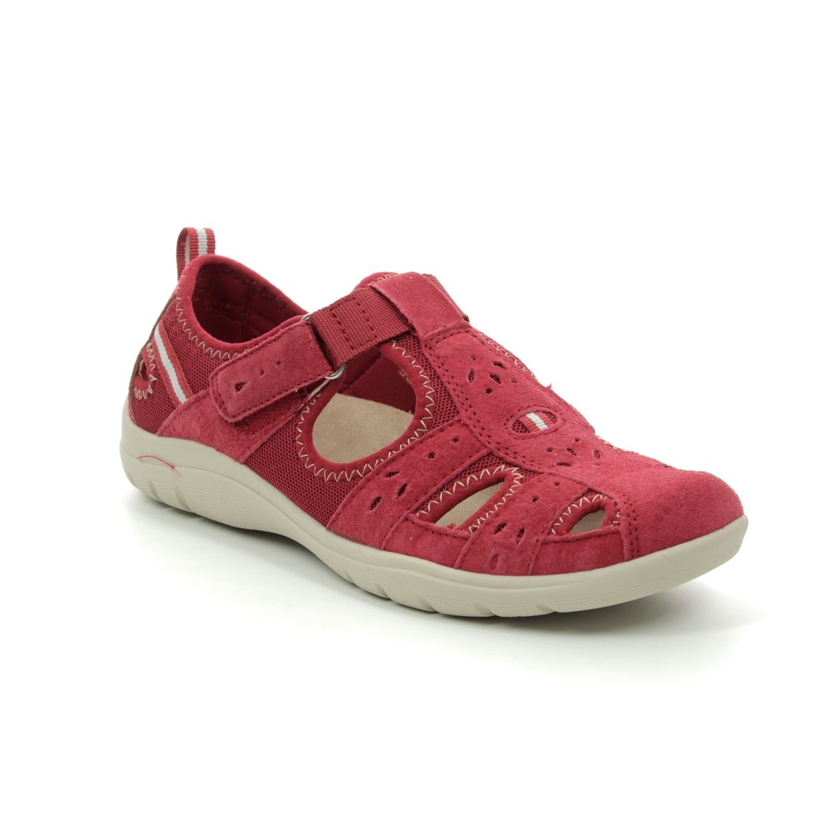 9c777749645e0 Earth Spirit Closed Toe Sandals - Red - 30200/80 CLEVELAND 91