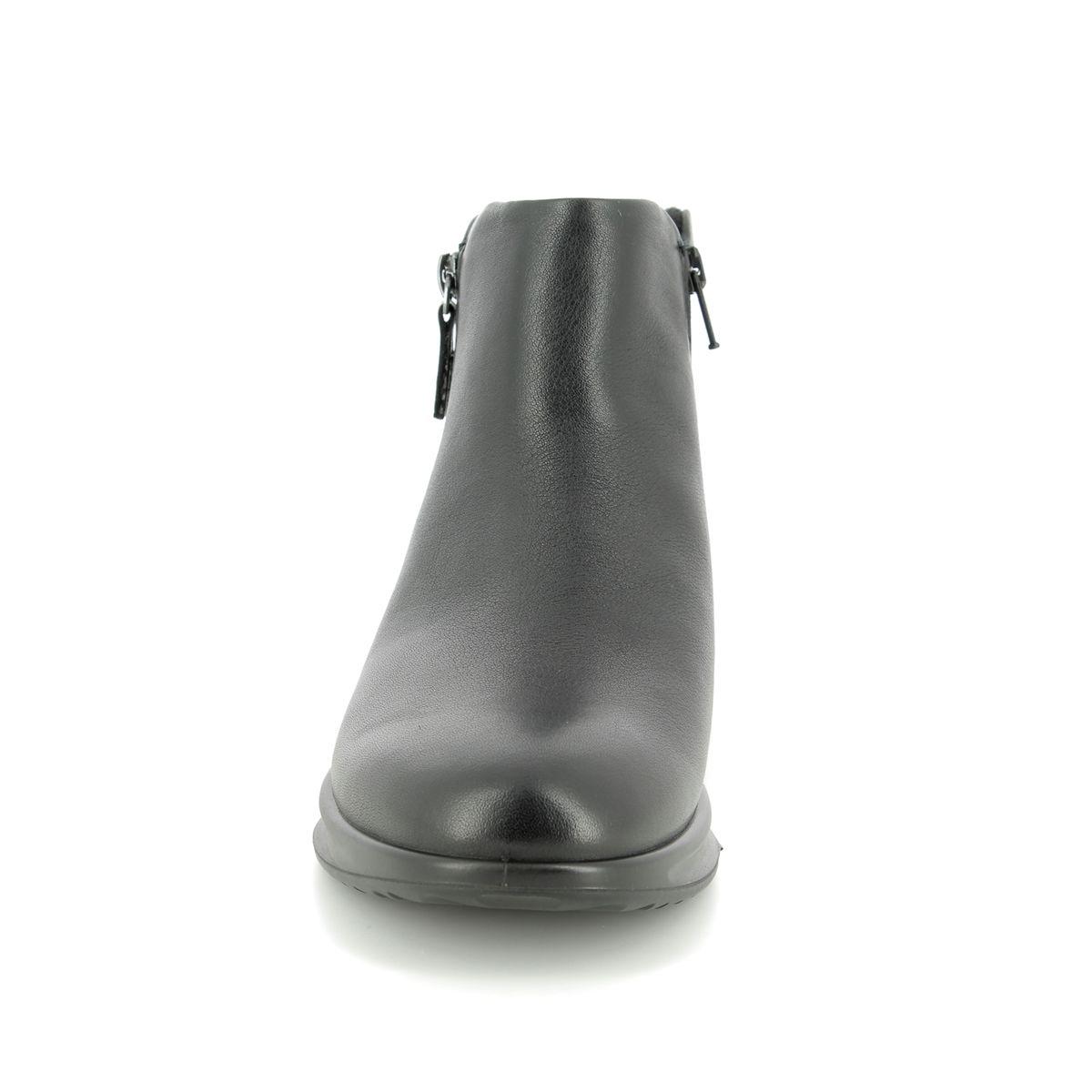 3856aea83 ECCO Ankle Boots - Black leather - 207083/01001 AQUET ZIP GORE-TEX
