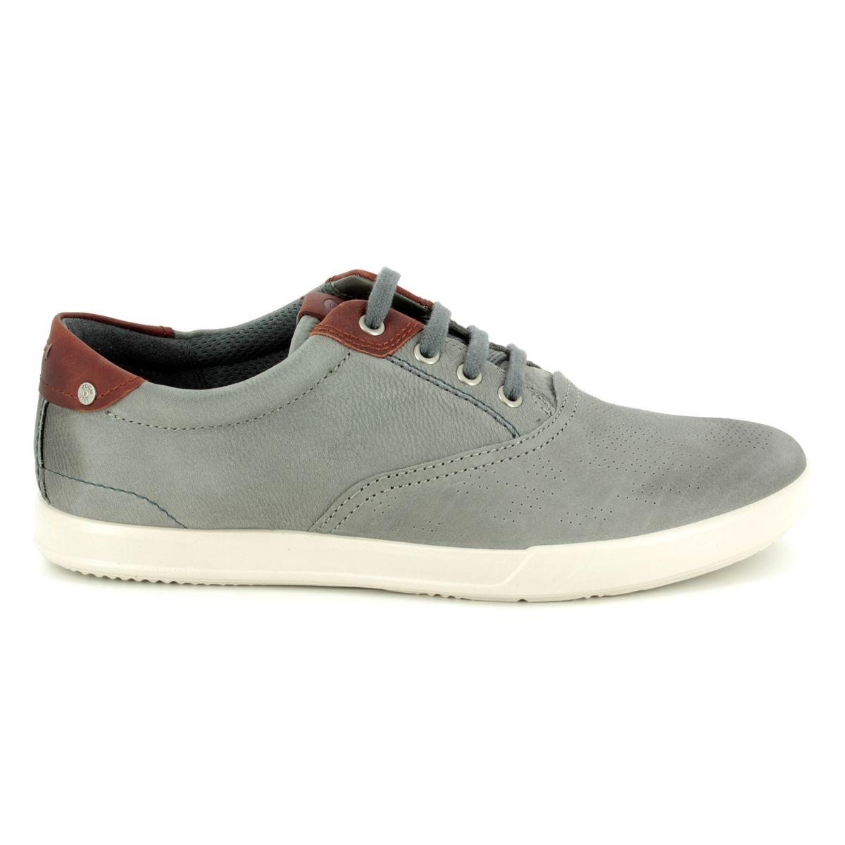 Plain 536224-58267 Grey nubuck casual shoes