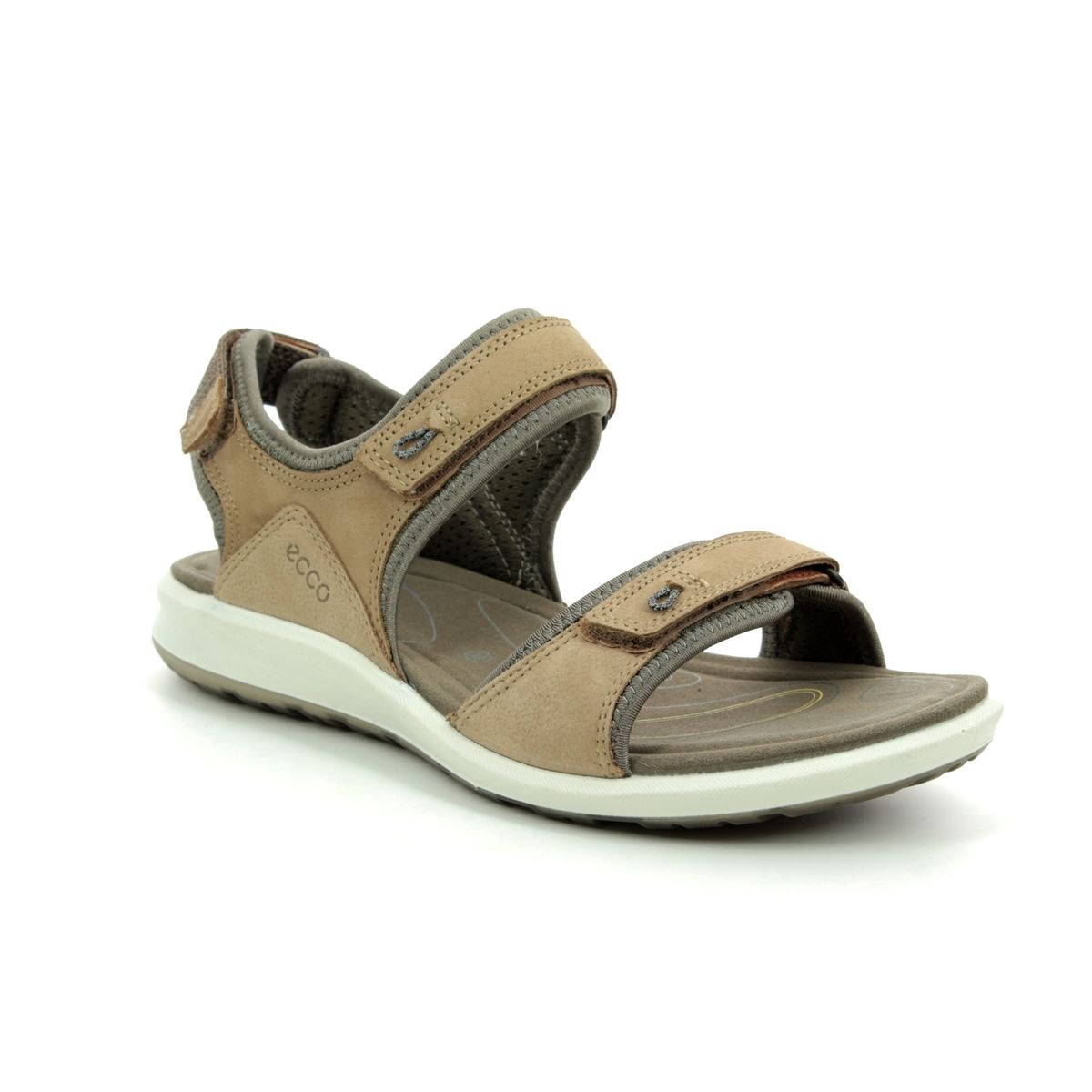 9fa8c25328 ECCO Walking Sandals - Tan Leather - 821863/50190 CRUISE II STRAP