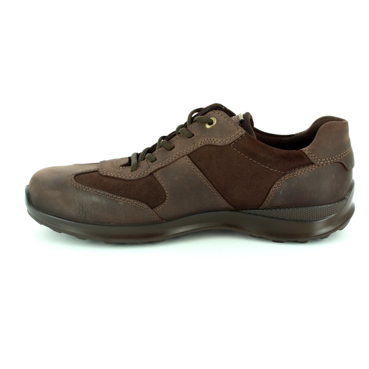 ecco 501314 58290 brown nubuck casual shoes