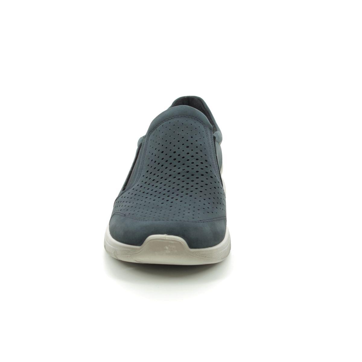 7ec8085643c ECCO Casual Shoes - Navy nubuck - 511644 02058 IRVING SLIP-ON