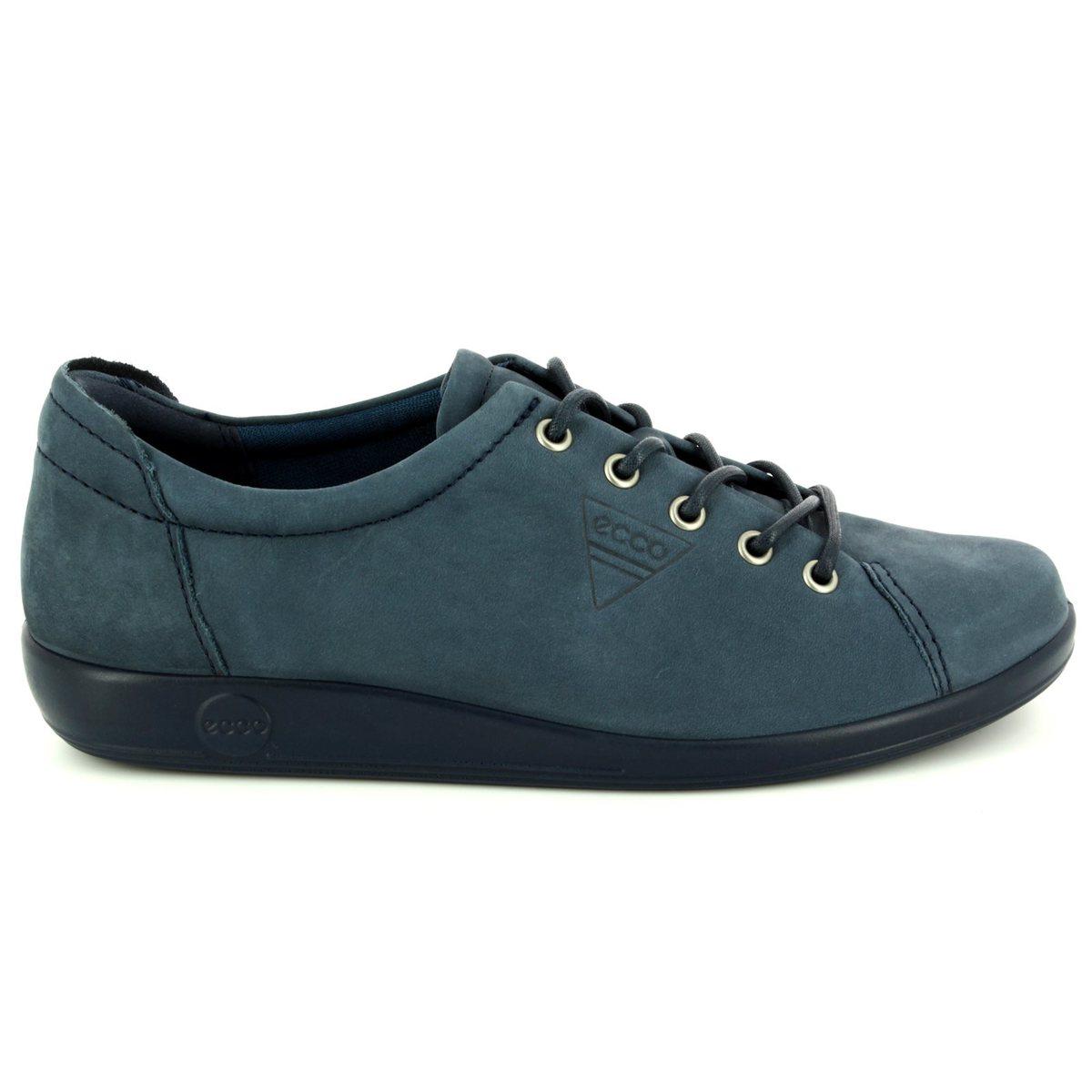 ceb6147d32ed ECCO Lacing Shoes - Navy nubuck - 206503 02038 SOFT 2.0