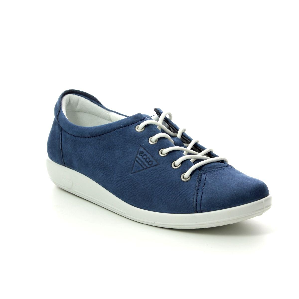 c9371cd6fd62a ECCO Lacing Shoes - Navy nubuck - 206503/02048 SOFT 2.0