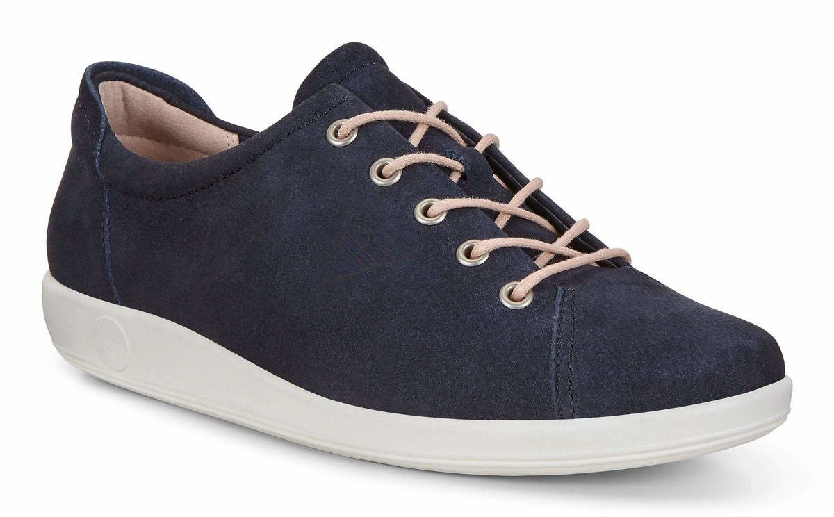 4463146446da8 ECCO Comfort Shoes - Navy nubuck - 206503/02303 SOFT 2.0