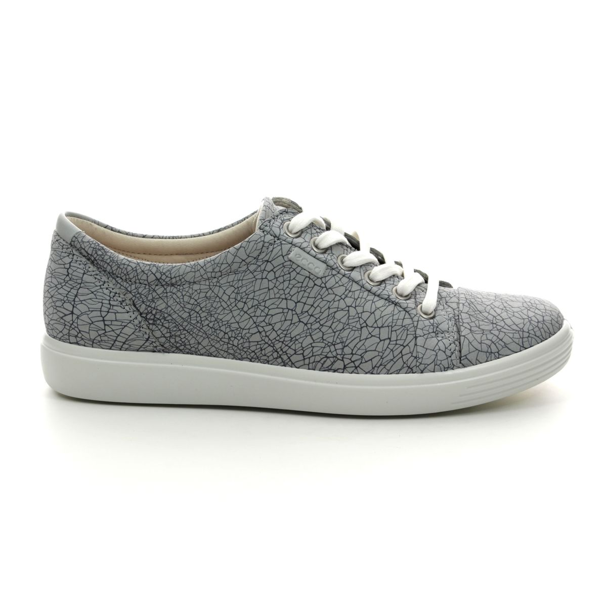 3397e7d2002fe ECCO Lacing Shoes - Grey nubuck - 430003/51411 SOFT 7 LACE