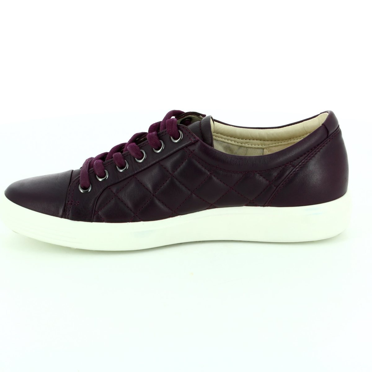 ecco soft 7 ladies 430083 01276 purple lacing shoes. Black Bedroom Furniture Sets. Home Design Ideas
