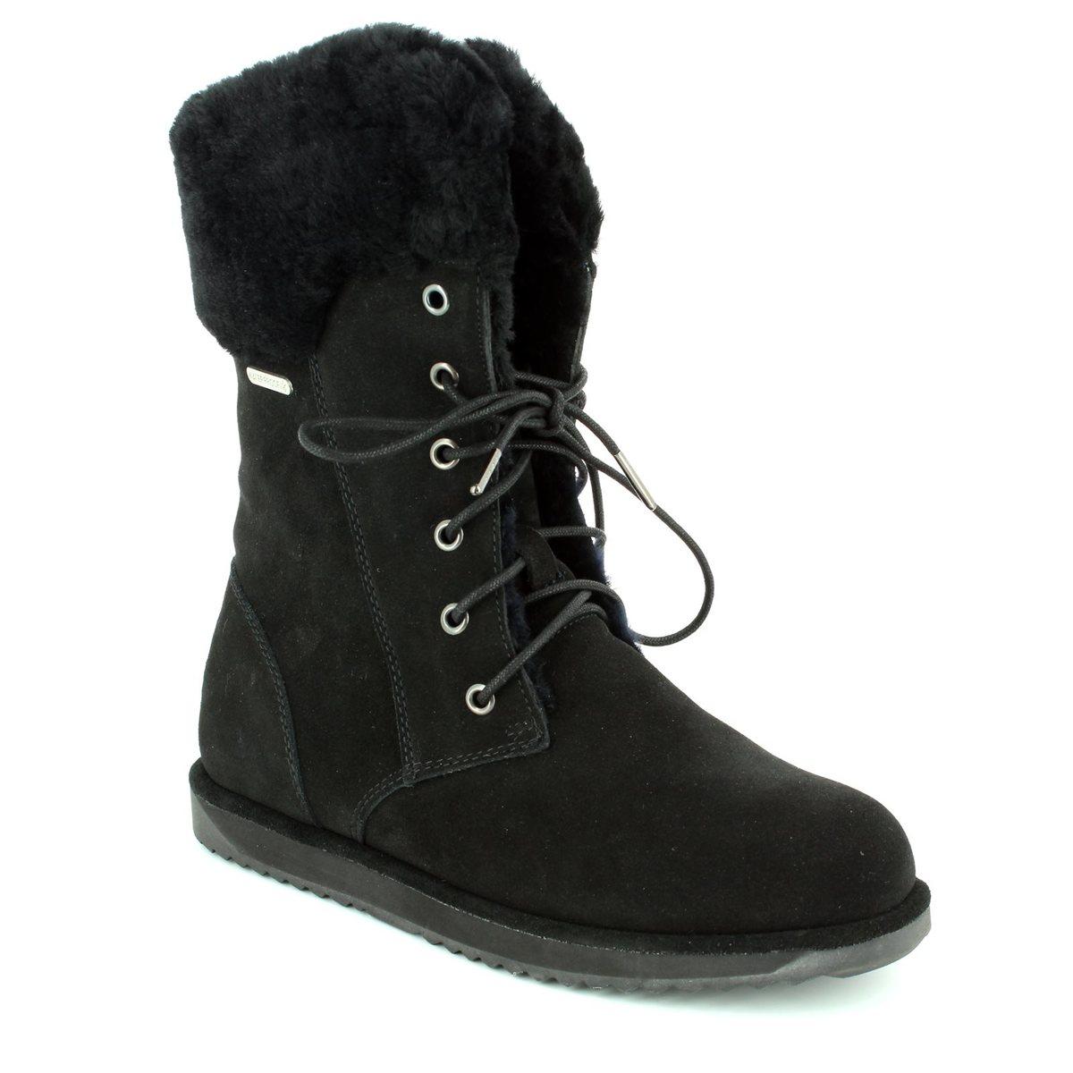 23b0115b61d EMU Australia Ankle Boots - Black suede - W11249 30 SHORELINE