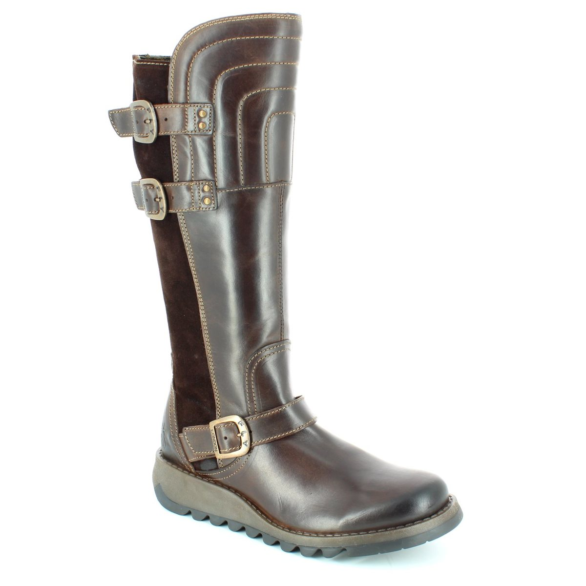 6878a727534 Fly London Sher 730 P143730-001 Brown knee-high boots
