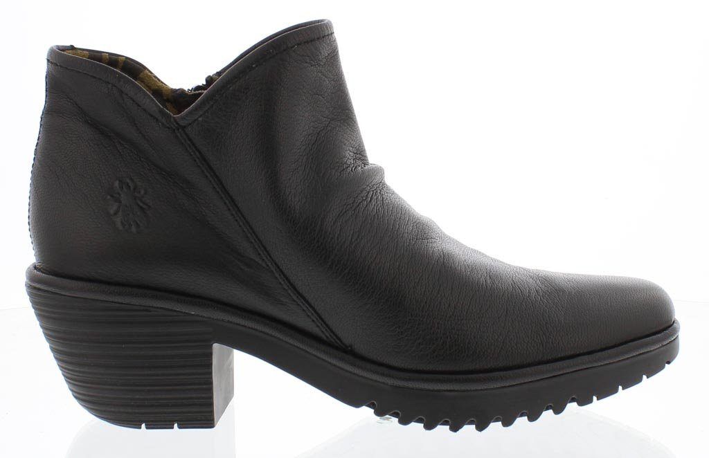 79dc5dbbd6f Fly London Ankle Boots - Black leather - P500890 WEZO