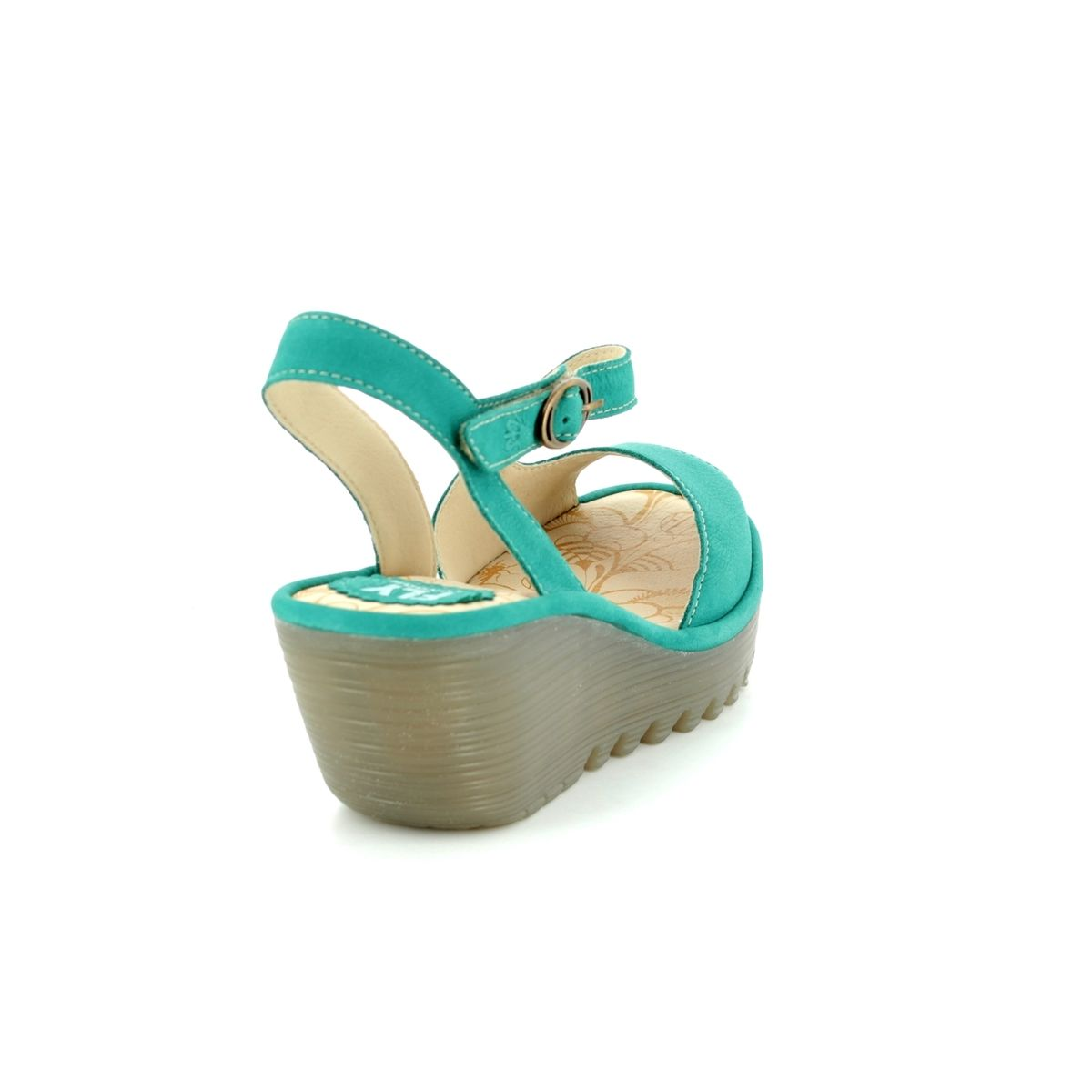 3578e29b26 Fly London Wedge Sandals - Turquoise - P500836 YAMP 836