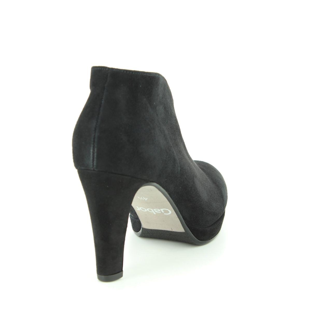 Gabor Ankle Boots - Black suede - 95.701.17 AMIEN b647cc35d66