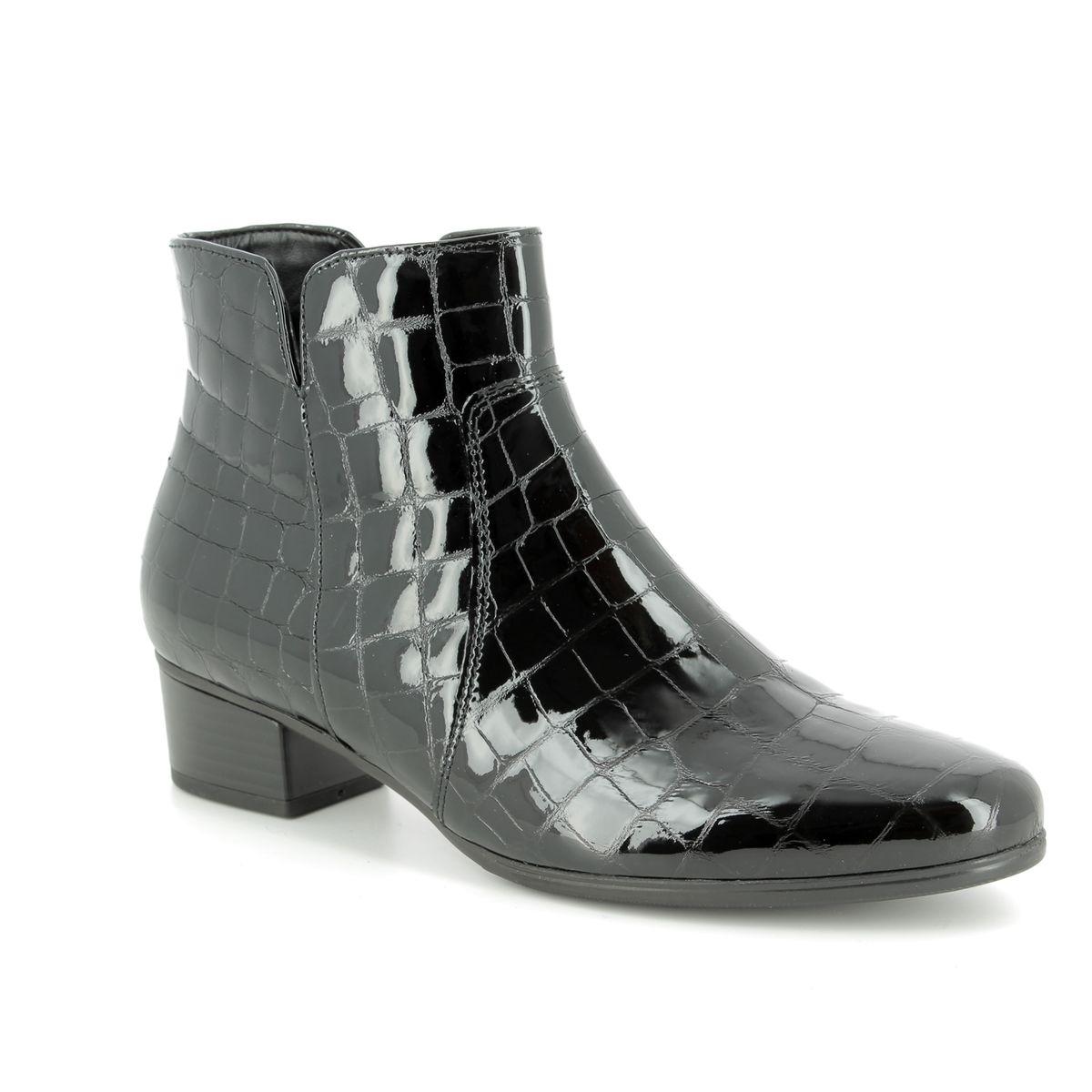 955a07053cc0b Gabor Ankle Boots - Black croc - 95.600.97 DELAWARE