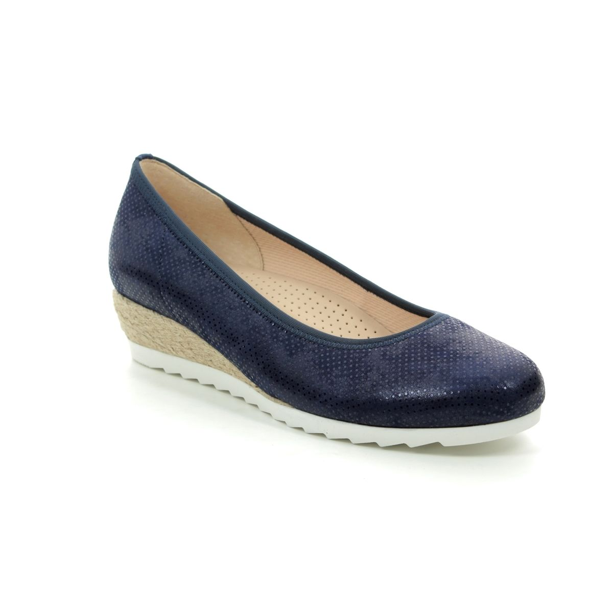 61485cc8e5205 Gabor Wedge Shoes - Navy - 22.641.26 EPWORTH