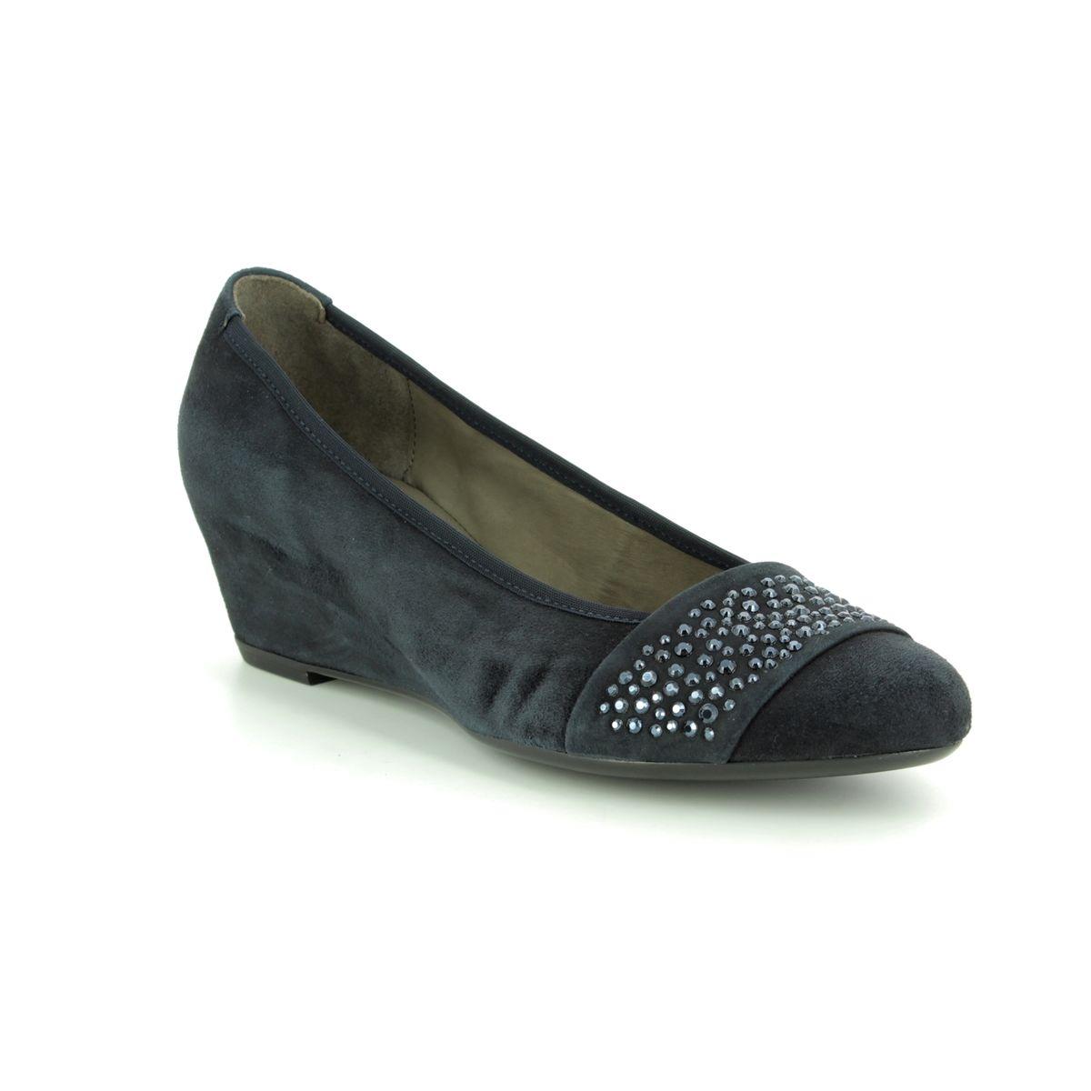 cf4aab569e Gabor Wedge Shoes - Navy nubuck - 25.369.16 FODDER