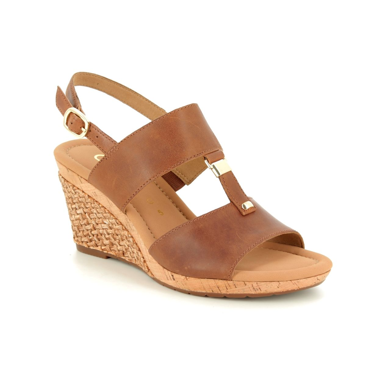 e80abeafa4 Gabor Wedge Sandals - Tan - 22.827.54 KEIRA