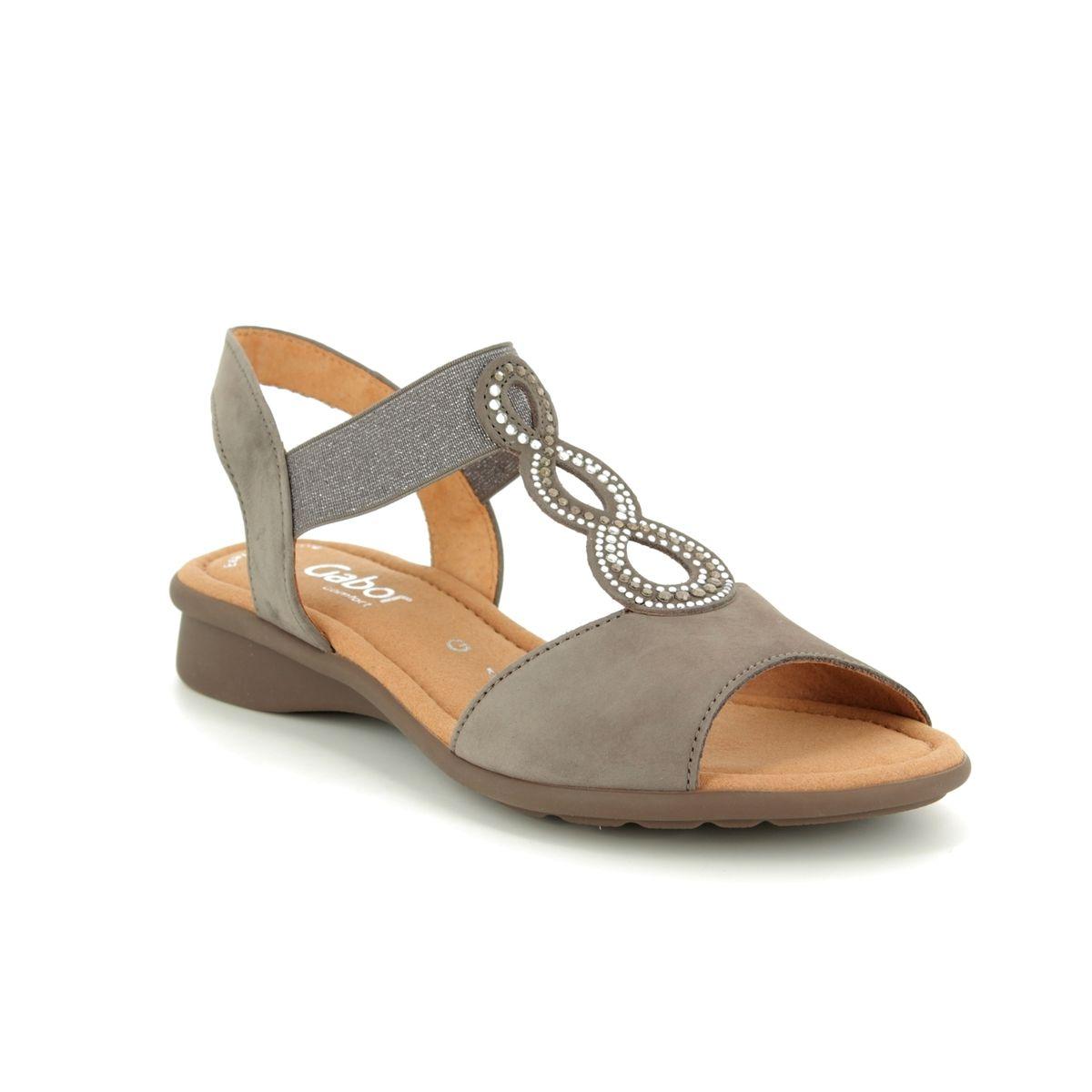 32acc6e3fbf63d Gabor Flat Sandals - Beige nubuck - 26.065.31 MERLIN