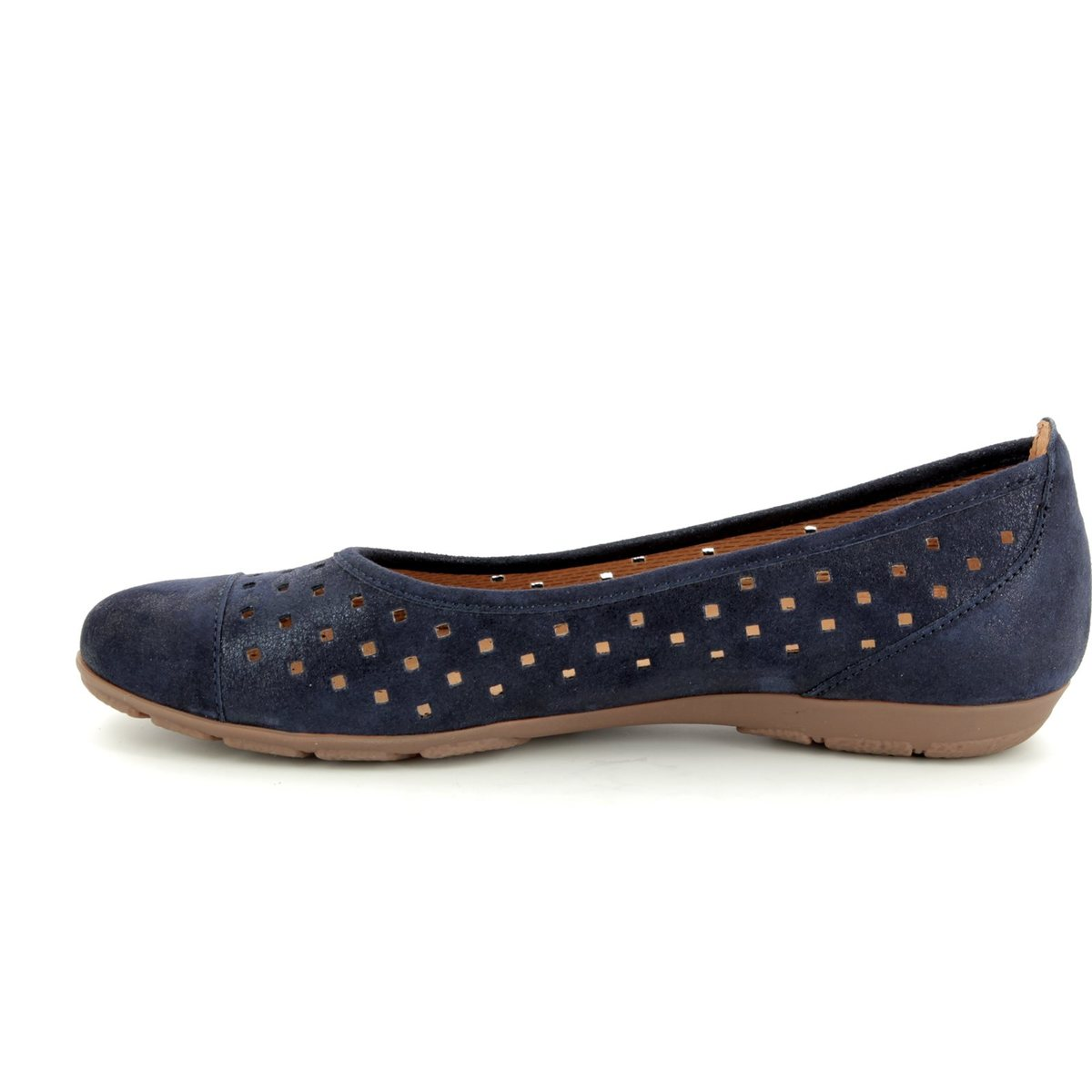 ae02b5d80ab Gabor Ruffle 84.169.66 Navy patent-suede heeled shoes