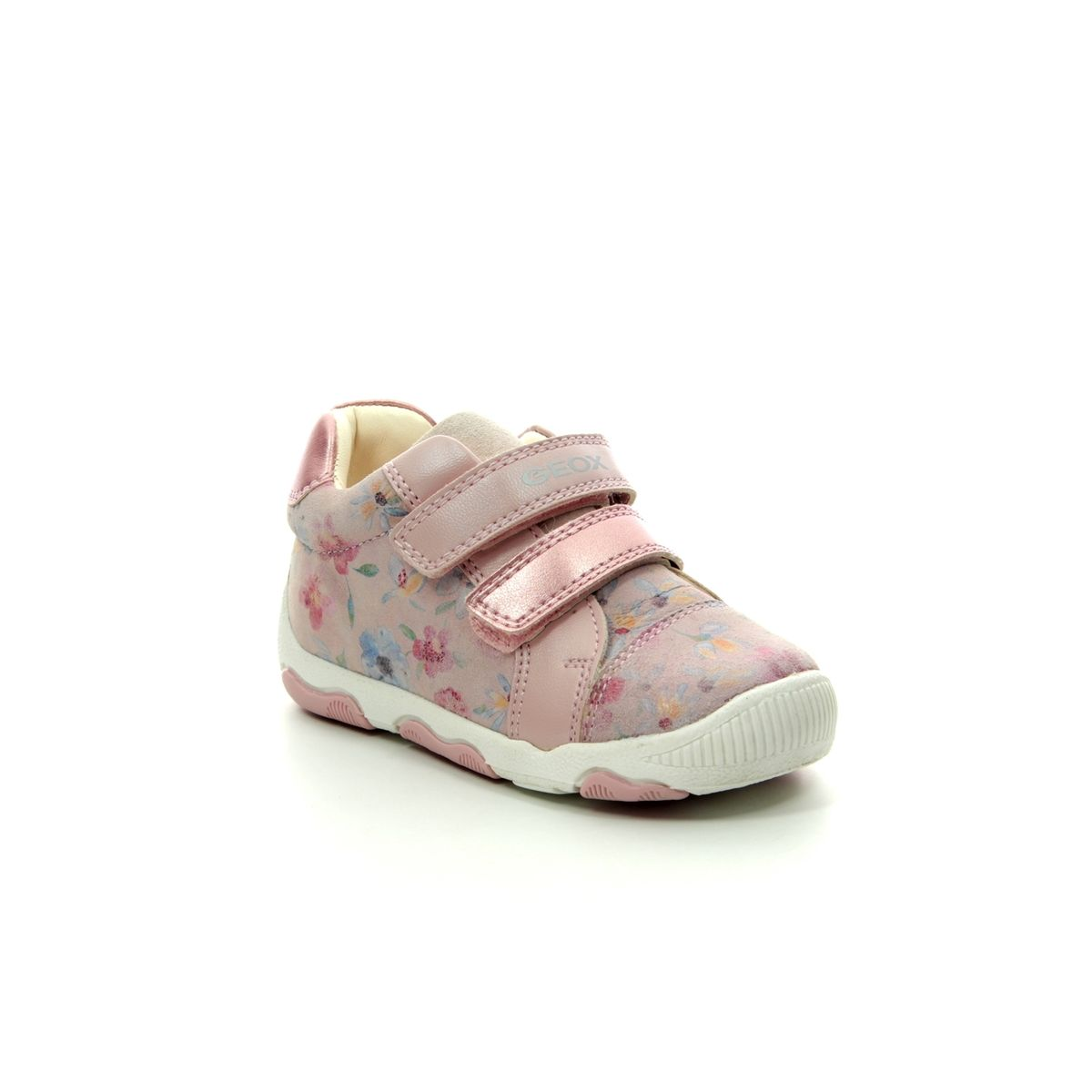 Frotar Bolos Erudito  Geox Baby Balu Girl B920QA-C8172 Pink first shoes