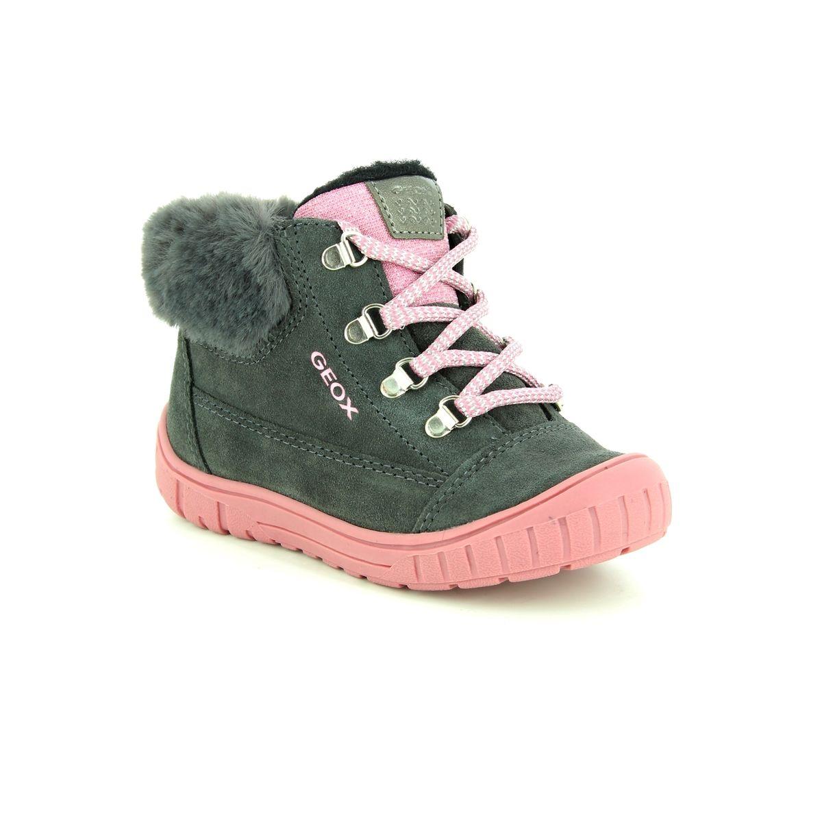 be1cad4126 Geox First Shoes - Grey suede - B842LA/C9002 BABY OMAR GIRL WATERPROOF