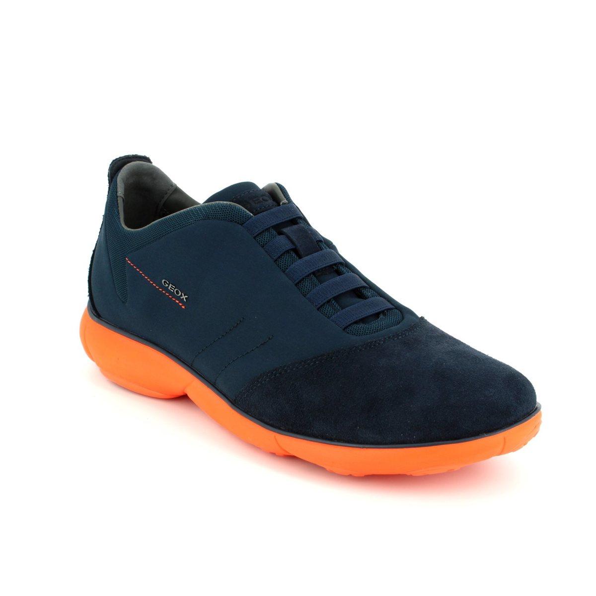 Geox Casual Shoes - Navy Orange - U62D7F/C0820 NEBULA F