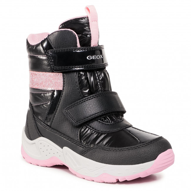 relajarse Bajar Empírico  Geox Sentiero Girls Boot Tex J04CFB-C0618 Black pink boots