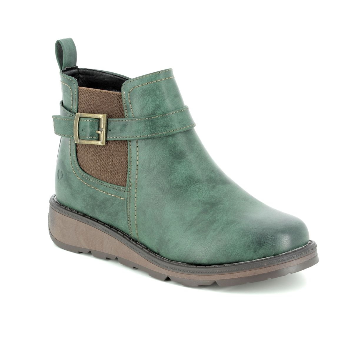 3583086bf6f3 Heavenly Feet Ankle Boots - Green - 8509 90 KENDAL