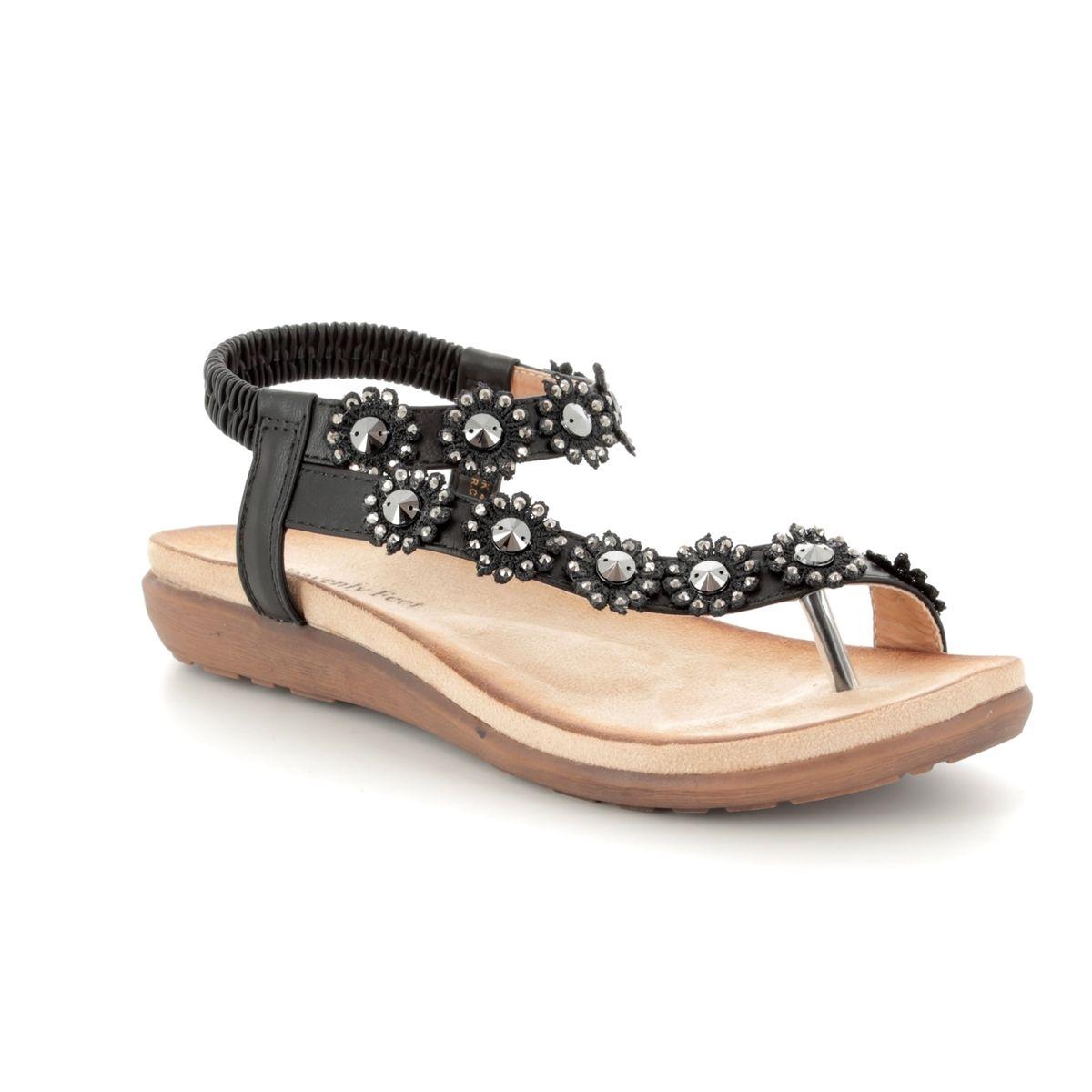 7d4731c9 Heavenly Feet Sandals - Black - 8112/30 LULU