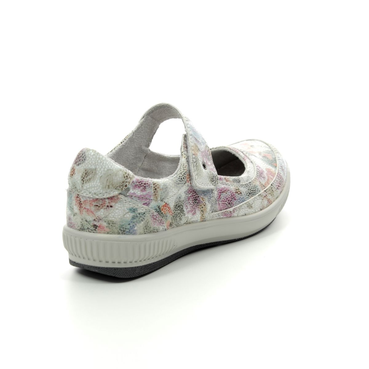 Heavenly Feet 9107-57 Madonna Floral Print Womens Mary Jane Shoes